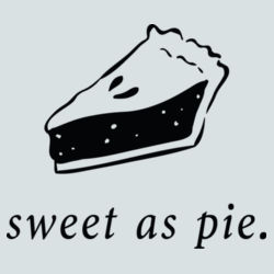 Sweet As Pie Slice - BSP Ladies Core Cotton V Neck Tee Design