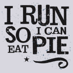 I run so I can eat pie - BSP Ladies Core Cotton V Neck Tee Design